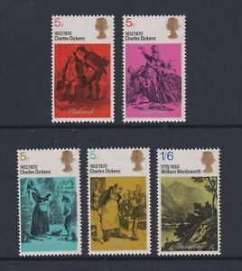 Grande-Bretagne / GB - 1970,Littéraire Anniversaires,Dickens Ensemble - MNH - Sg