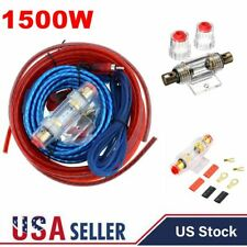 New listing 1500W Car Amplifier Installation Wiring Kit Amp Red Power Wire Cable Fuse Set Us