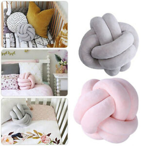Soft Knot Cushion Ball Chunky Concise Knotted Pillow Handmade Plush Home Decor