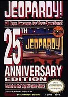 JEOPARDY 25TH ANNIVERSARY NES NINTENDO GAME COSMETIC WEAR