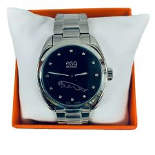 ESQ by Movado Diamond Mens Stainless Steel Rare Jaguar Watch Swiss Sport Classic