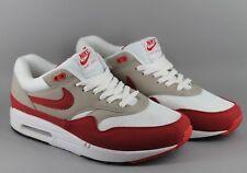 size 40 582cb 42ba6 Nike Air Max 1 QS Herren UK 10 EU 45 rot grau weiß Turnschuhe Sneakers  378830 161