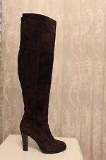 Karen Millen Otk Brown Suede Leather Long Over Knee Elasticated Boots  UK 7 40