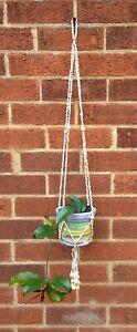 Seashell Macrame Hanging Plant Pot Holder Vintage Style Boho Shell Design