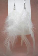 F1132F White Feather Earrings Dangle Eardrop Fashion Handmade Jewelry