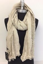 NEW Fashion Women/Men Solid Cotton Linen Scarf Shawl Stole Wrap PASHMINA ,Beige