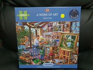 Gibsons G3542 A Work of Art by Steve Crisp 500 XL pce jigsaw puzzle