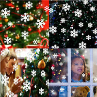 Christmas White Snow Snowflake Wall Stickers Decal Home Room Holiday Decor DIY