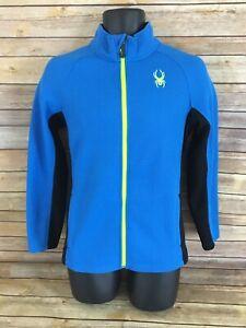 SPYDER Jacket Size XL 18 Youth Boys Long Sleeve Coat Zip Front Casual Blue Kids