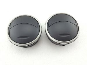 2 x Seat Ibiza (2008 - 2012) Dashboard Air Vents - Grey Ring (Genuine)