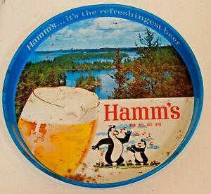 Vintage 1960s Metal Advertising Tray Hamm's Beer Dancing Musical Bears Man Cave