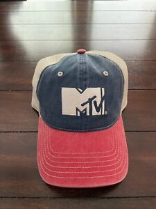 MTV red white and blue hat, snapback, great for summer, new