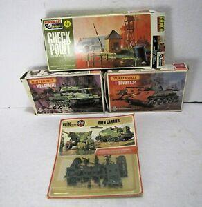 Vintage 1:76 1:72 HO Model Kits Matchbox Tanks Airfix Minicraft Diorama