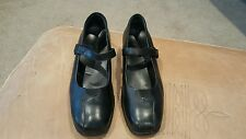 """KUMFS Womens BLACK LEATHER MARY JANES Size ( Inside Footbed = 10.75"""")"""