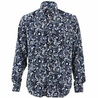 Mens Loud Shirt Retro Psychedelic Funky Party TAILORED FIT Abstract Swirl