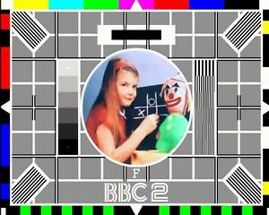"10"" x 8"" BBC 2 TV TELEVISION TEST CARD PICTURE NOSTALGIC METAL PLAQUE SIGN 010"