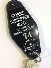 Vintage Hyannis Harborview Motel Key Massachusetts #74 Room Key & Fob