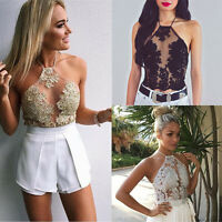 New Sexy Women Summer Lace Sleeveless Vest Casual T-Shirt Blouse Tank Top