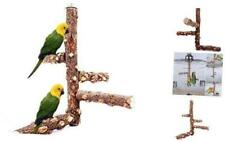 Borangs Bird Perch Natural Wood Stand Toy Branch for 3-4pcs Small Medium Parrots