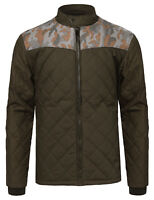 FashionOutfit Men/'s Casual Quilted High Neck Camo Print Bomber Jacket Parka Coat