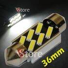 2 LED Siluro 36mm 6SMD 7020 Canbus Error Free Lamps Lights White Inner Plate