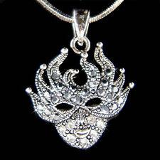 w Swarovski Crystal Masquerade MASK MARDI GRAS Phantom of the Opera Necklace New