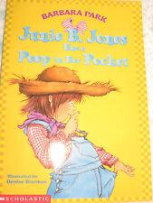 Junie B. Jones PEEP IN HER POCKET Barbara Park Childrens Book Scholastic Reading