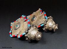 antique muchley silver earring Katawaz Afghanistan Pakistan antik Ohrringe No-3