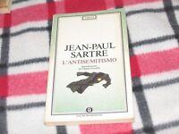 JEAN-PAUL SARTRE / L'ANTISEMITISMO Ed. Mondadori 1990