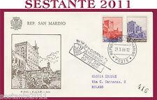 SAN MARINO FDC FAIP F.A.I.P. 131 VEDUTE SERIE PAESAGGI 1966 (172)