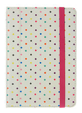Trendz Apple iPad Mini 7 Inch Folio Cover Case Polka Dot With Closing Strap