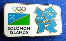 LONDON 2012 Olympic SOLOMON ISLANDS NOC Internal team - delegation  pin
