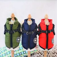 Pet Dog Winter Coat Jacket Clothes Cat Apparel Clothing Puppy Harness Costume US