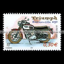 ★ TRIUMPH 650 BONNEVILLE T120 ★ FRANCE Timbre Poste Moto / Motorcycle Stamp #122