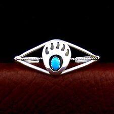Sterling Silver Ladies Turquoise Bear Paw Bracelet Native American  ---B47 B T