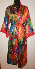 NATORI BENGAL LONG ROBE KIMONO PRIVATE LUXURIES  sz M NEW$180 100% AUTHENTIC