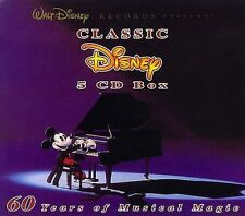 💿X5! WALT DISNEY : THE COMPLETE 5 CLASSIC DISNEY CD BOX SET! VOLUME:1,2,3,4,5!