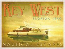 BOAT ART PRINT Nautical Escapes 4 Carlos Casamayor Key West Florida Poster 14x11