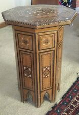Antique Egyptian Moroccan Mother of Pearl Inlaid Coffee Side Table aprox 55cm