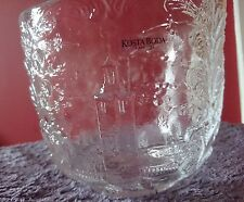 Kosta Boda Clear Glass Bowl - Folk Art Series - Perfect