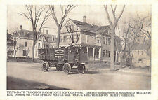 Springfield MA Ramapogue Ice Company Delivery Truck Message Postcard