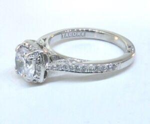 TACORI Dantela 18K White Gold Diamond Engagement Ring Setting