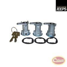 8122874K3 CROWN Door Lock Cylinder Kit (3 Cylinders & Keys)