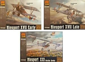 CSM 1/32 Nieuport French WWI Fighter New Plastic Model Kit Copper State Models