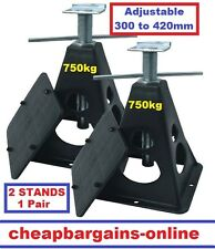 2 x CARAVAN STABILISER STANDS CAMPER TRAILER SUPPORT LEGS JACKS CAR TRAILER LEGS