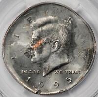 1995 PCGS MS64 Double Struck BS Struck In Copper Kennedy Half Dollar Mint Errors