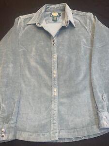 Cabela's Shirt/Jacket/Snap Up Women Sz.M-Cotton Bl-Blue-L Sleeve