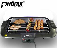 Phönix BBQ Grill Tischgrill Elektrogrill 2000 Watt Barbecue Grill mit Thermostat