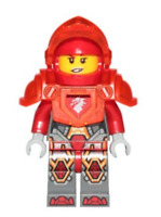 Lego Macy 271720 Trans Neon Orange Armor and Visor Nexo Knights Minifigure