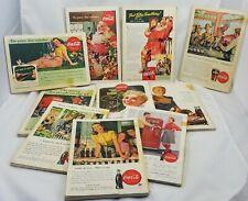 10 National Geographic 1940s 1950s Coke Ads Coca Cola Santa Mid Century Modern